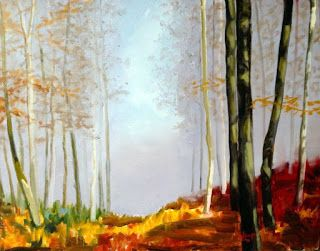 Art by Viorica Buga: The Autumn, oil on canvas 60/80 cm