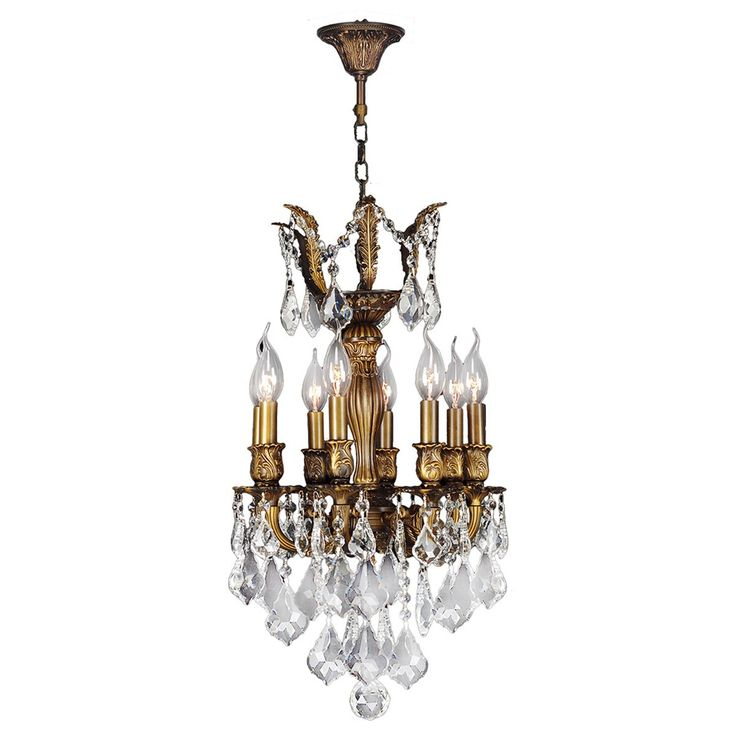french imperial collection 6light antique bronze finish crystal 13 x 23inch mini chandelier by brilliance lighting and chandeliers