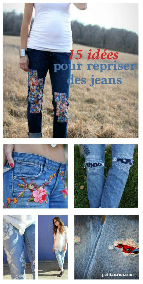Super Plus de 25 idées uniques dans la catégorie Customiser un jean sur  JT75