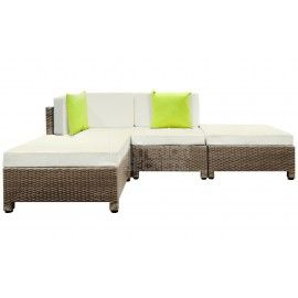 Laguna Outdoor Lounge 4 Piece - Brown