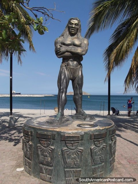 Tayrona Indian monument, Santa Marta beach, Colombia