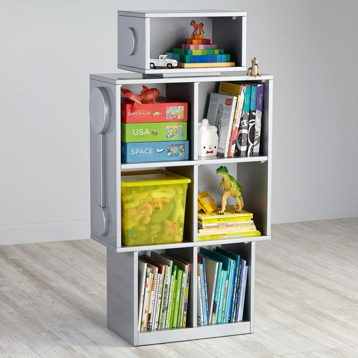 Shop Robot Bookshelf.  Deep in the laboratories of Nod, our resident scientist created a robot bookcase capable of amazing things. Roboter Geek Bücherregal in Grau.