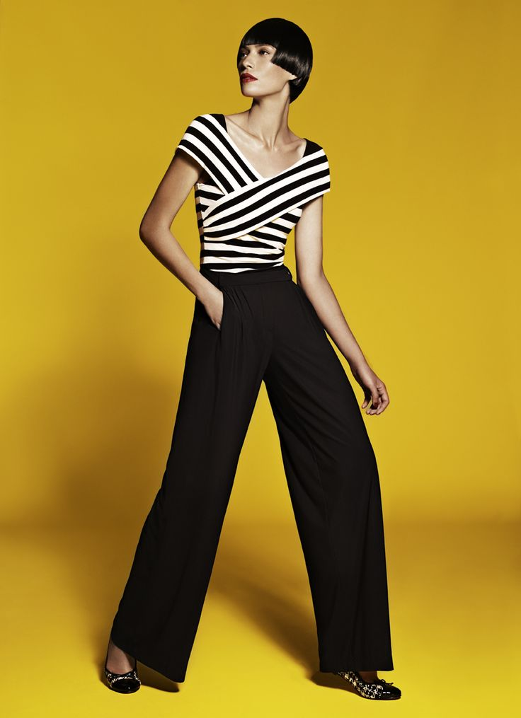 Crossover Cropped Top & Pleat Front Pant
