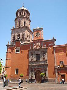 Templo de San Agustín en el centro histórico de la ciudad.