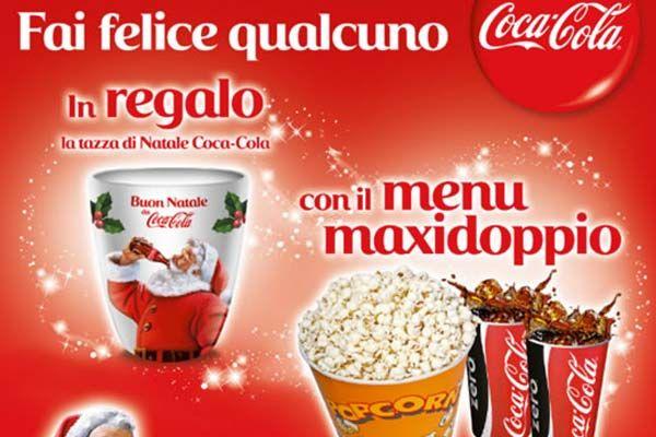 Entro il 31 dicembre 2014 acquista un menu promozionale presso il bar del tuo UCI Cinemas e ricevi, subito, l'esclusiva tazza natalizia firmata Coca-Cola