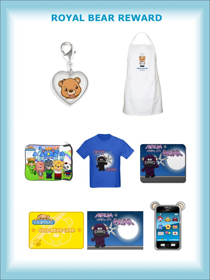 ROYAL BEAR REWARD - Beautiful silver heart-shaped Charm designed by Secret Bear World (for your bracelet or necklace) plus the Top Chef Apron exclusively designed by Secret Bear World based on our Chef Bear character plus the GAMER BEAR REWARD upgraded to 5 GOLD BEAR CARDS AND 100,000 Bear Coins ($1,000 value)!