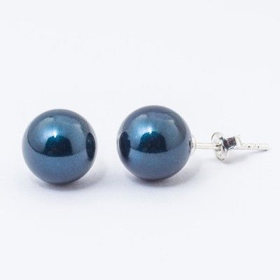 Swarovski Pearl Earrings 10mm Petrol  Dimensions: length: 2,2cm pearl size: 10mm Weight ~ 3,30g ( 1 pair ) Metal : sterling silver ( AG-925) Stones: Swarovski Elements 5818 10mm Colour: Crystal Petrol Pearl 1 package = 1 pair Price 9.90 PLN( about`2,5 EUR)