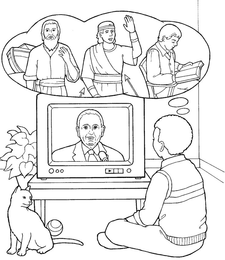 Malvorlagen Tv: 214 Best Images About LDS Children's Coloring Pages On