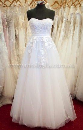 Best range of Wedding Dresses and Deb Dresses in Melbourne #debdress #deb #debutante #whitedress #lace #strapless #corset