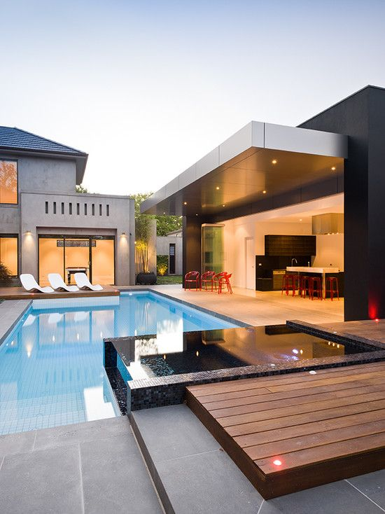 Pools Area, Swimming Pools, Outdoor Living, Dreams House, Architecture, Landscapes Design, Outdoor Spaces, Open Kitchens, Pools Design