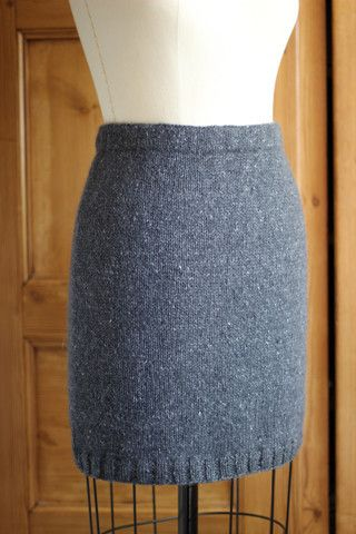 Simple Straight Skirt Project - Felted Tweed Aran version