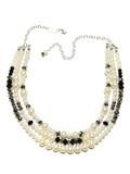 Deco Pearl 3 Strand Necklace in White   Mink Schmink