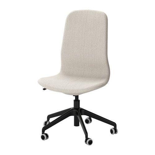 LÅNGFJÄLL Chaise pivotante - Gunnared beige, noir - IKEA