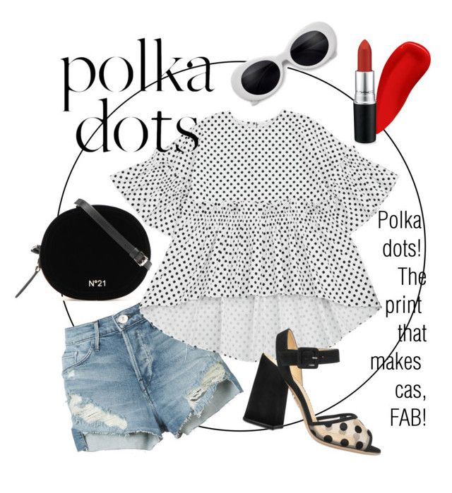 """""""Polka dots!"""" by alana-alford on Polyvore featuring 3x1, NARS Cosmetics, MAC Cosmetics and Charlotte Olympia"""