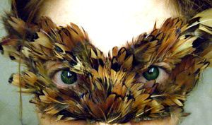 Make a Feathered Mask - Feathered Mask Tutorial: The Finished Feather Mask
