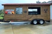 2009 BBQ Trailer with Lang Smoker 28' 8/6/2013 (Bushnell, Florida) - BBQ Mobile Unit with a Lang Reverse Smoker, Refrigerator, Fresh and Gray water tanks, Hot water tank, 3 compartment sinks,