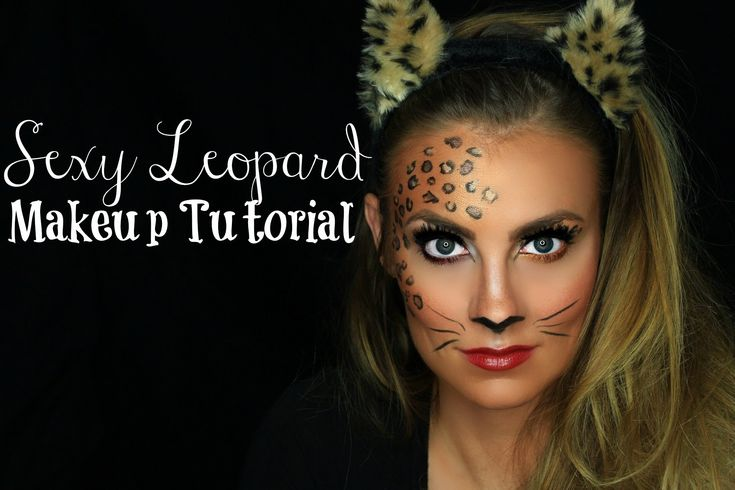 Sexy Leopard (Cat) Halloween Makeup Tutorial | Angela Lanter