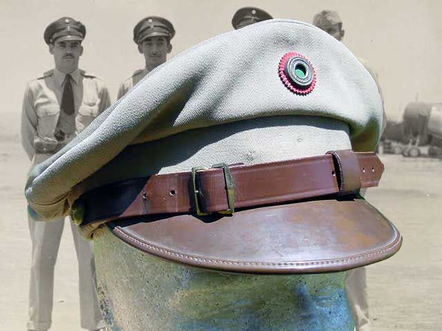 71c3d5b74a120 WWII Mexican Army field cap.