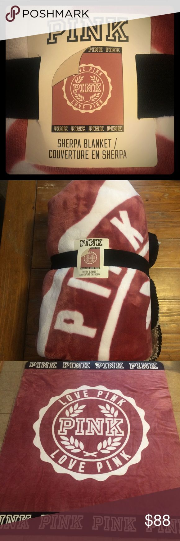 VS Pink Begonia sherpa blanket New with tags. Victoria's Secret Pink soft begonia Sherpa blanket. Super soft! Hard to find. PINK Victoria's Secret Other