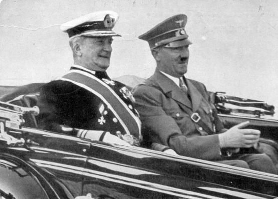 Regent Miklós Horthy of Hungary with Führer Adolf Hitler of Germany, circa late 1930s