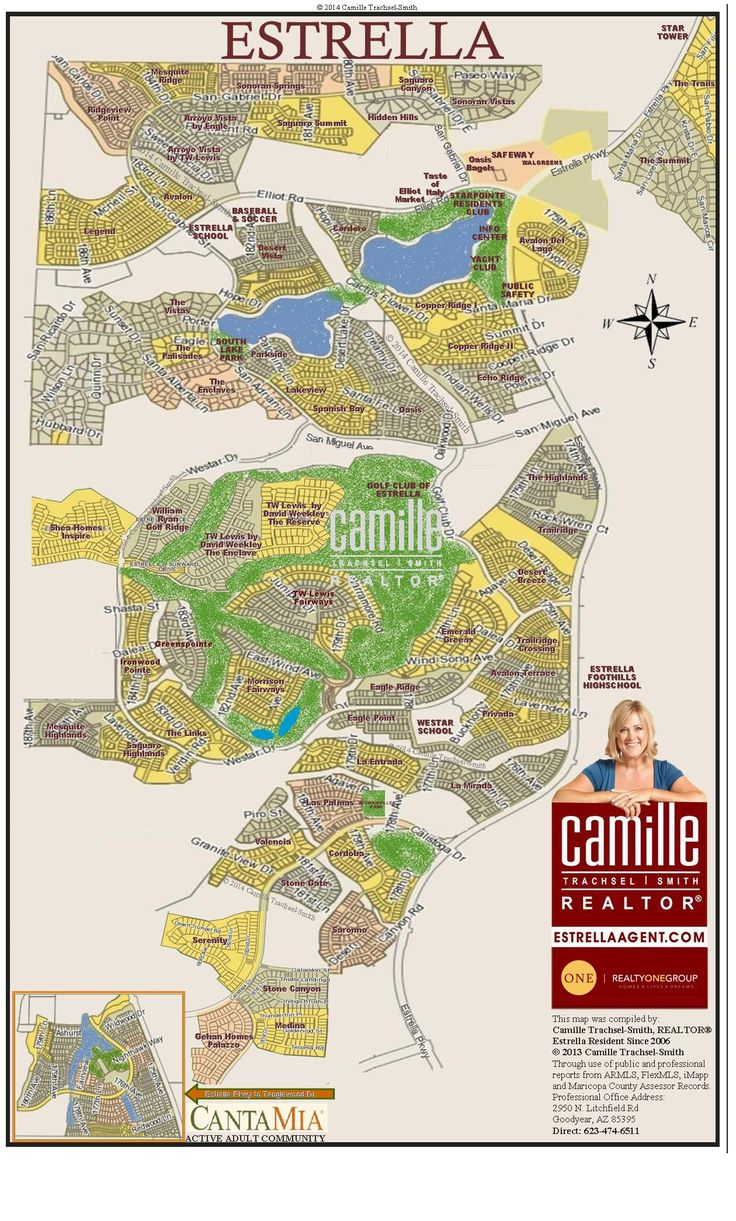 Estrella Map - Camille Trachsel-Smith, Welcome Home Realty, Estrella Neighborhood Specialist, Goodyear, Arizona