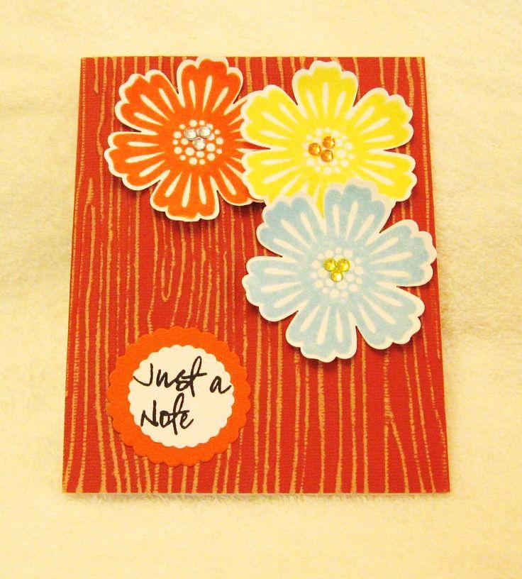 Stampin Up! Mixed Bunch & Woodgrain Embossing Folder