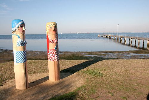 Geelong bollards (bathers)
