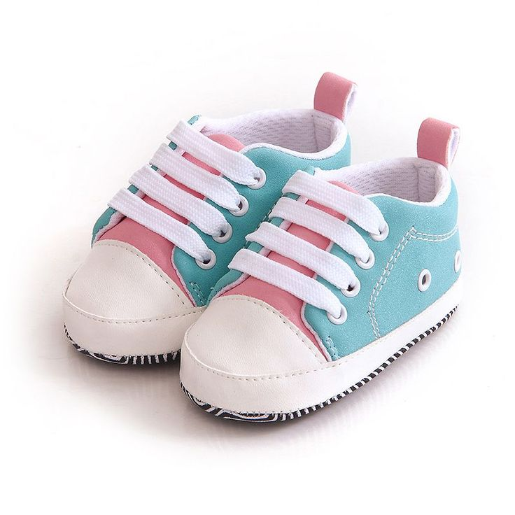 Baby Autumn Casual Splice Sneakers Newborn Crib Boys Girls Toddler Lace-up Soft Sole Anti-skid Shoes #Affiliate