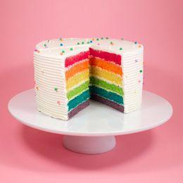 Rainbow cake - crumbs and doilies, uk