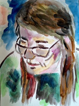 Watercolor of Celeste a student of mine for over 7 years. She is graduating high school and moving on to collage. One of the watercolors I did is a graduation gift for her..2017
