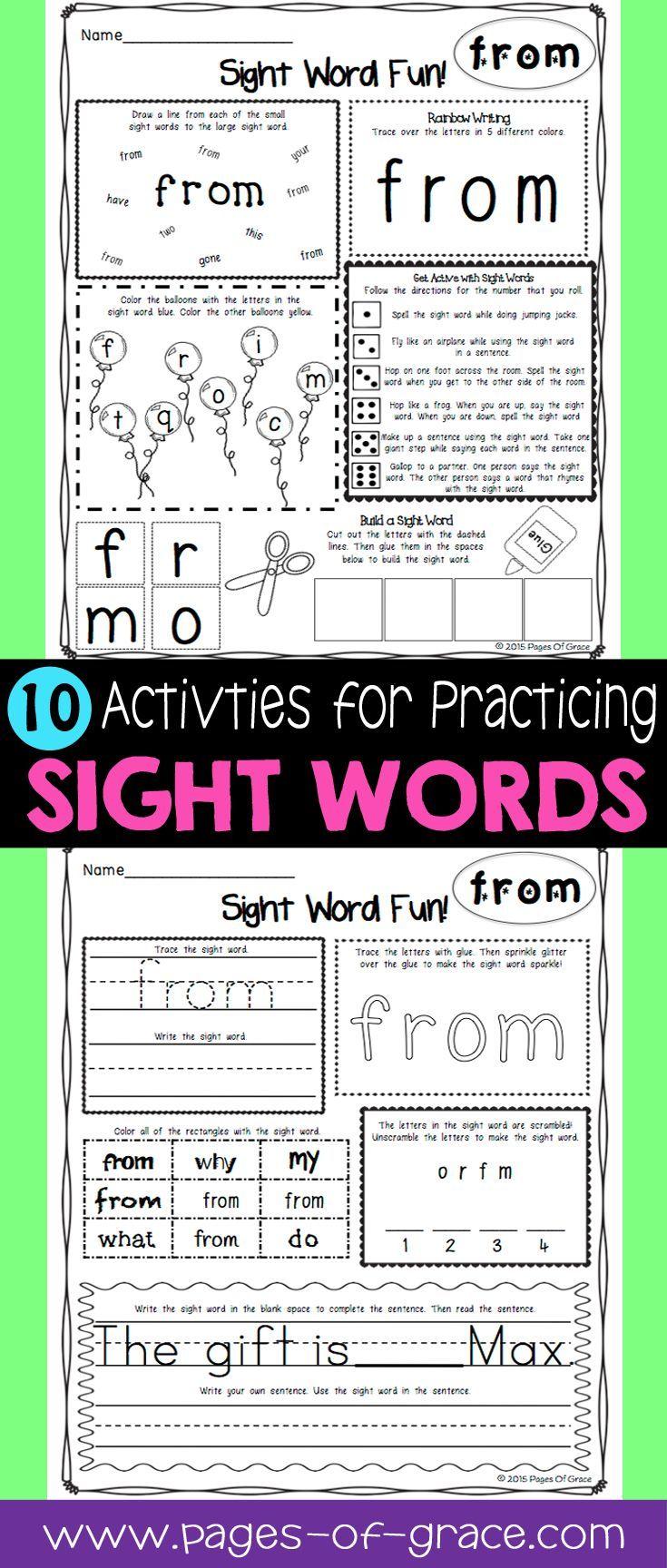 Die besten 25+ Pre k sight words Ideen auf Pinterest ...