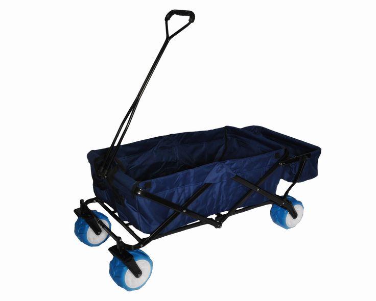 Folding Beach/Utility Wagon with Big Blue tires