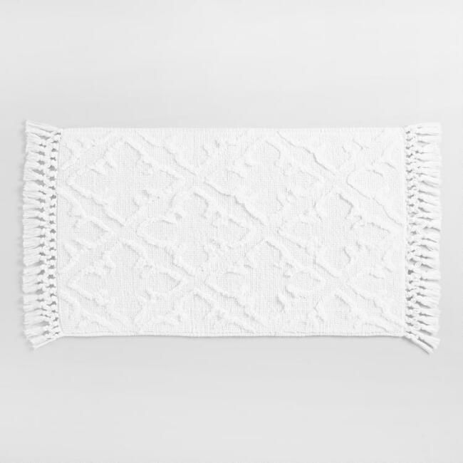 White Gate Woven and Tufted Bath Mat - v1