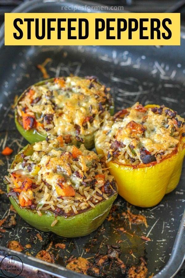 Stuffed Bell Peppers Stuffed Bell Peppers Ground Beef Stuffed Bell Peppers Keto Stuffed Bell Pepp In 2020 Stuffed Peppers Healthy Eating Recipes Best Dinner Recipes