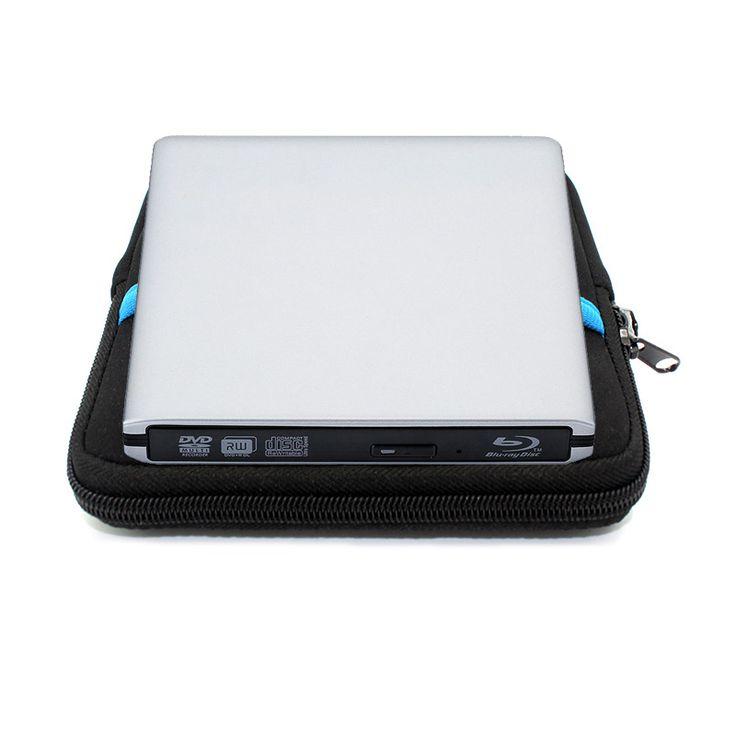 Blu-ray Player  External  USB 3.0 DVD/BD-RW Burner Drive CD/DVD/BD-ROM Player Portable slim  for Laptop,Play 3D Movie+Drive bag