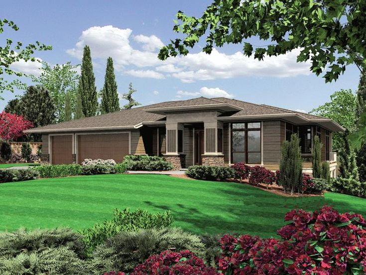 Lovely HOUSE PLAN 2559 00165 U2013 This Stylish Prairie House Plan Features A Bold  Exterior And