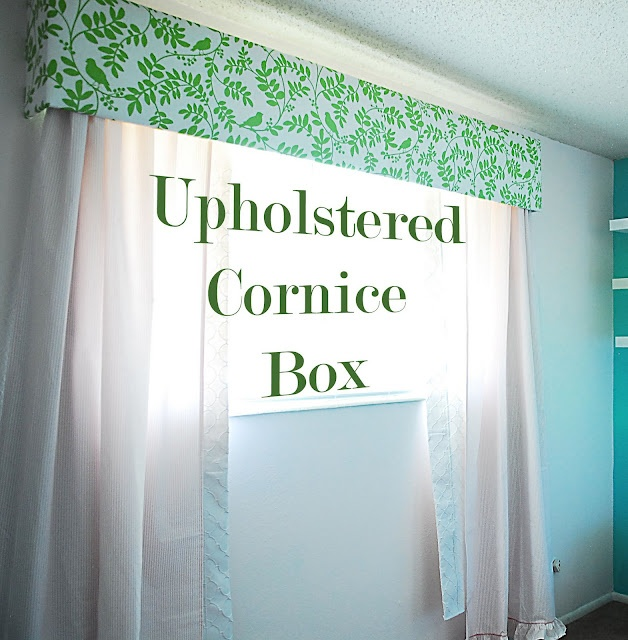 Shwin: Upholstered Cornice Box....this is made with particle board