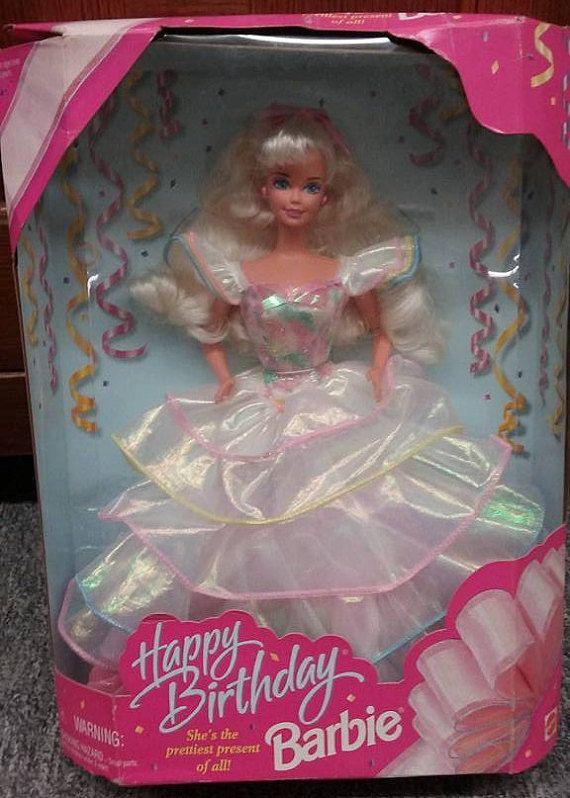 Vintage 1995 Happy Birthday Barbie Doll, Original Box ...