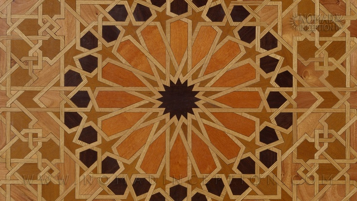 Islamic Parquet Hardwood Floor Flower Of Life Geometric