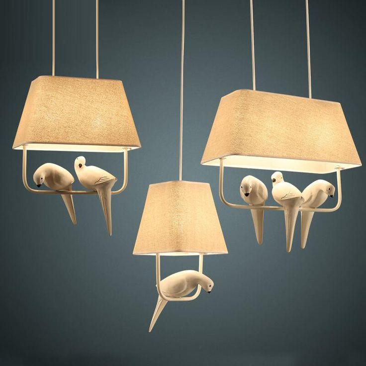 Piękne ptaki Ameryka Łacińska światła kawiarnia cafe vintage bird cage wisiorek…