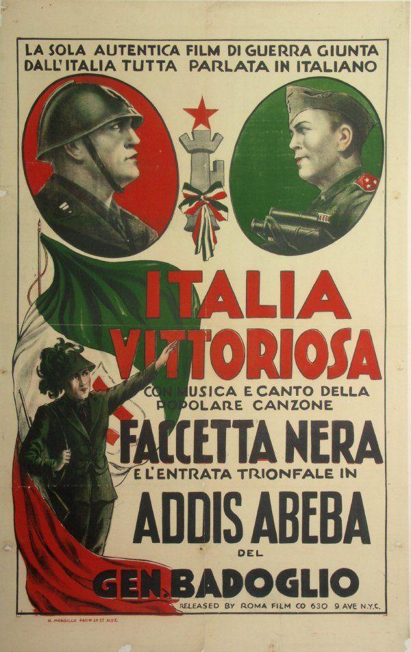 Italia Vittoriosa - early 1930's political Italian Fascism propaganda poster