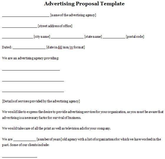 Advertising Proposal Template | Sample Proposals | Pinterest ...