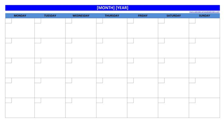 activity calendar template excel