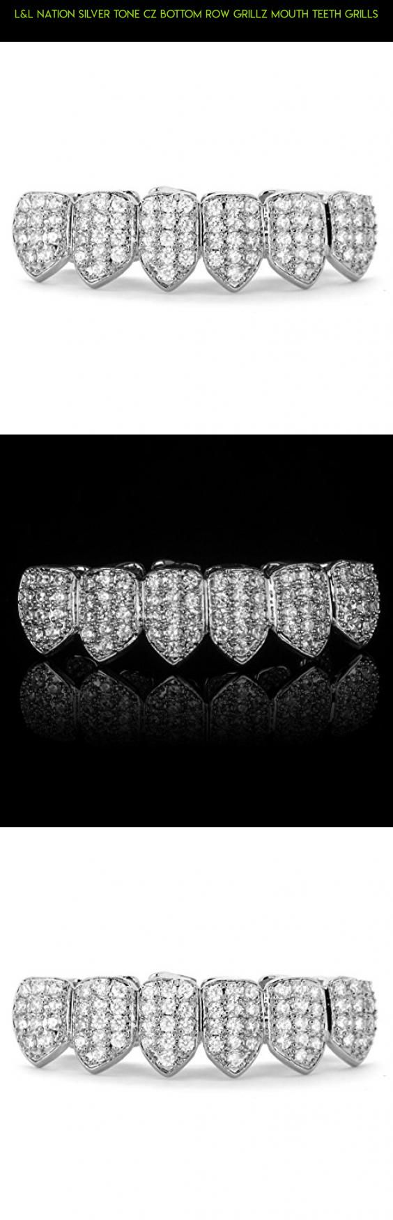 L&L Nation Silver Tone CZ Bottom Row GRILLZ Mouth Teeth Grills #fpv #drone #shopping #products #racing #teeth #tech #parts #plans #your #silver #grills #camera #for #technology #gadgets #kit