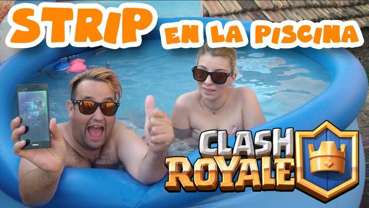 STRIP CLASH ROYALE ABRIENDO COFRES SUPERMÁGICOS EN LA PISCINA