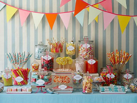 Candy shop dessert table. Need I say more?