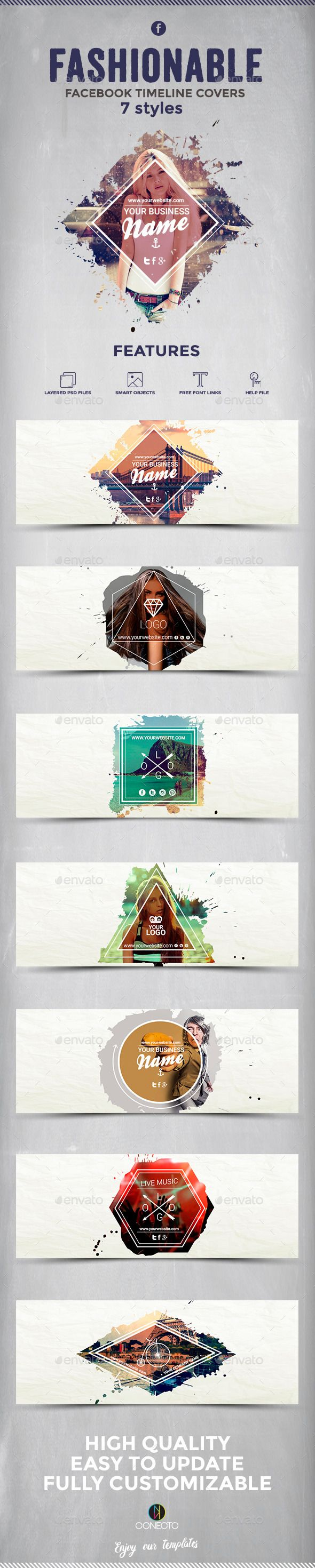 Fashionable Facebook Timeline Covers Template #design Download: http://graphicriver.net/item/fashionable-facebook-timeline-covers/12254664?ref=ksioks