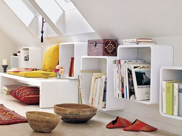 regal idee dachschr ge home sweet home pinterest dachschr ge regal und dachausbau. Black Bedroom Furniture Sets. Home Design Ideas
