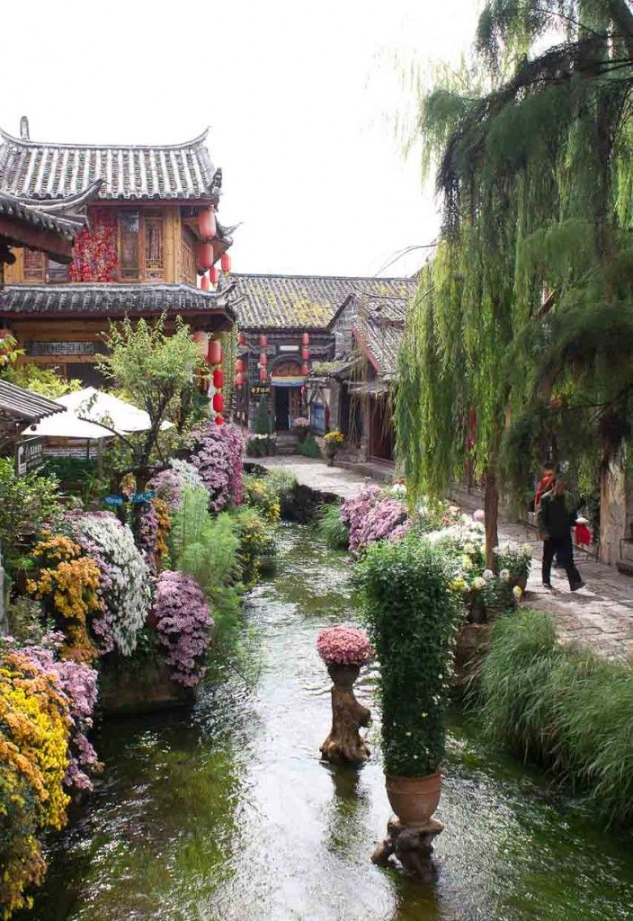 Lijiang; It's an old town in northern Yunnan, in what was once the Dali Kingdom, the fought-over hinterland between China and Tibet.