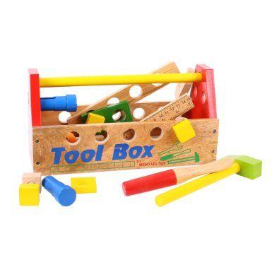 Bigjigs Toys BJ302 Tool Box: Amazon.co.uk: Toys & Games